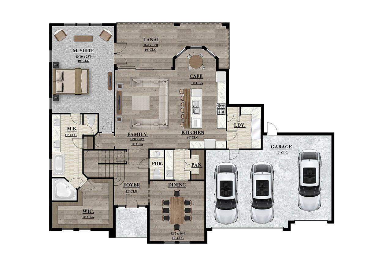 2d 3d Plans Floor Plans Rendering