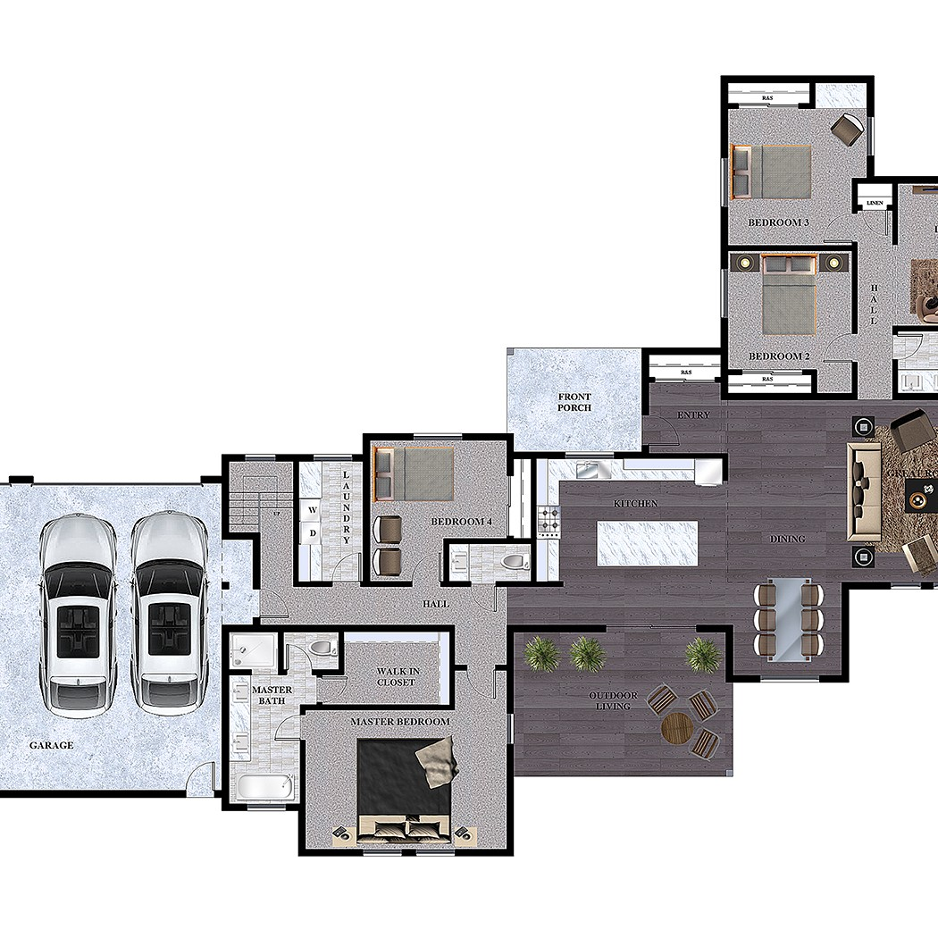 Architectural 3d Floor Plan Rendering: Floor Plans Rendering